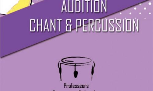 Audition Chant et Percussion
