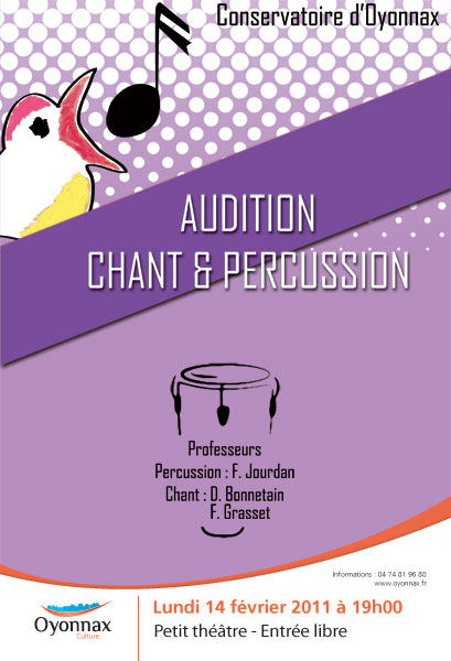 Audition Chant et Percussion