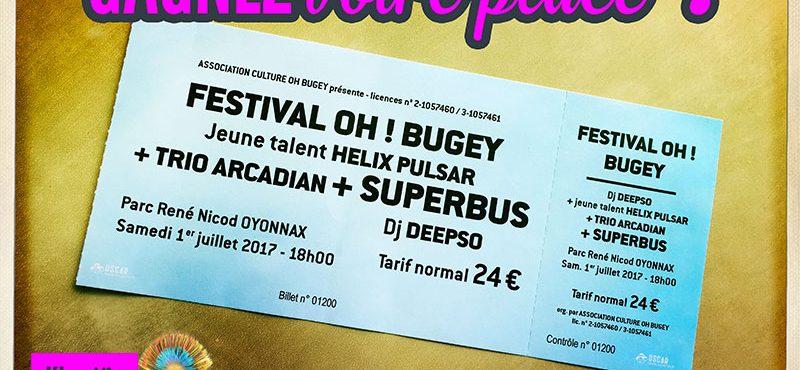 Gagnez votre place pour le Festival Oh ! Bugey